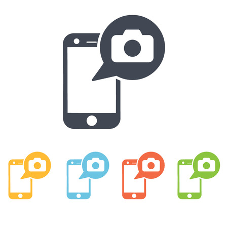 cell phones: make foto with phone icon Illustration