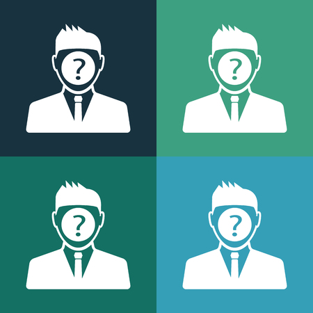 question man icon Illustration