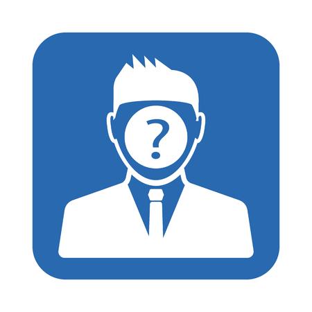 icona di uomo domanda Vettoriali