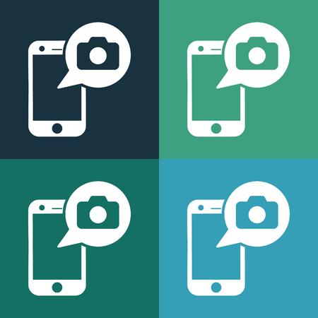 foto: make foto with phone icon Illustration
