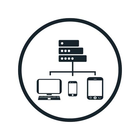 contemporaneous: computer telephony server icon