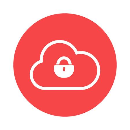 storage: cloud storage icon Illustration