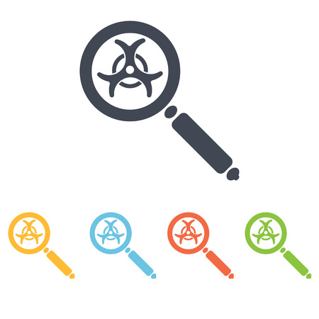 chemical weapons: magnifying glass icon