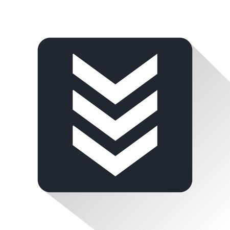 Militärs Streifen Symbol