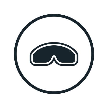 protective: protective glasses icon
