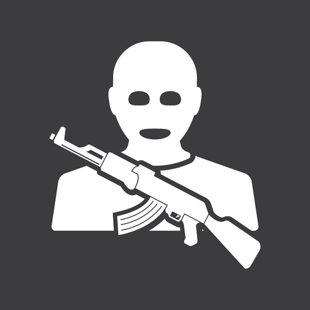 kidnapping: terrorist icon Illustration