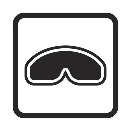 human eye: protective glasses icon