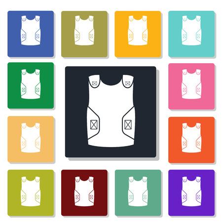 bulletproof vest: bulletproof vest icon