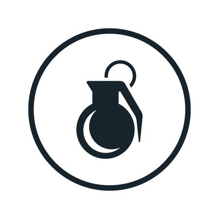 lanzamiento de bala: icono de granada Vectores