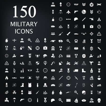 first form: Military icon set icon