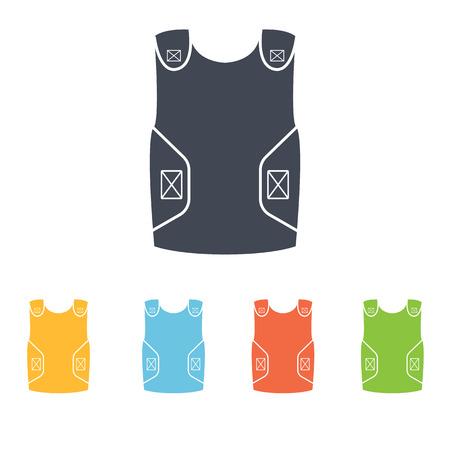 bulletproof: bulletproof vest icon