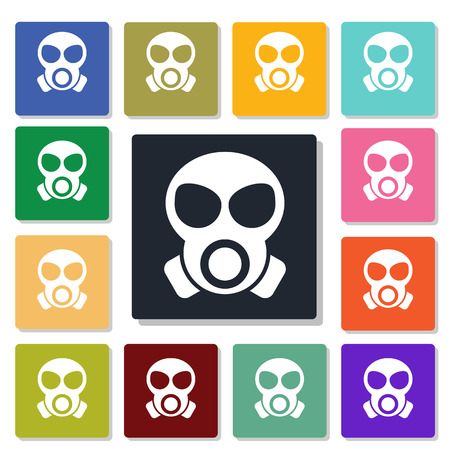 gas mask warning sign: gas mask icon
