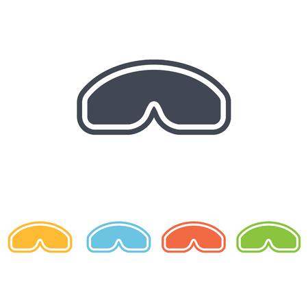 protective glasses: protective glasses icon