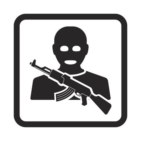 terrorist icon Illustration