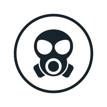 icono de máscara de gas Ilustración de vector