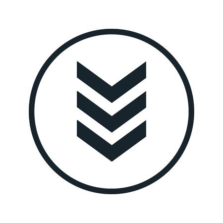 sergeant: militarys stripes icon