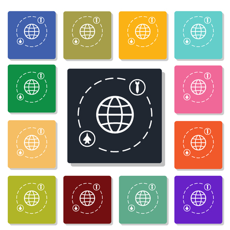 bomb threat: global conflict icon