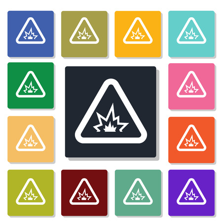 shelling: caution sign icon