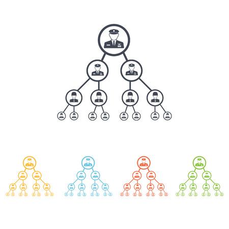 hierarchy: military hierarchy icon