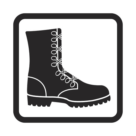 military ankle boots icon