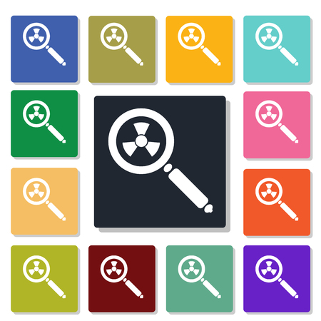 nuclear weapons: magnifying glass icon
