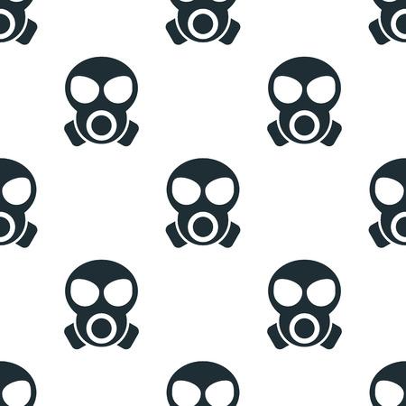 gas mask warning sign: gas mask icon