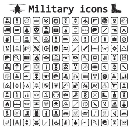 군사 아이콘 설정 아이콘 일러스트