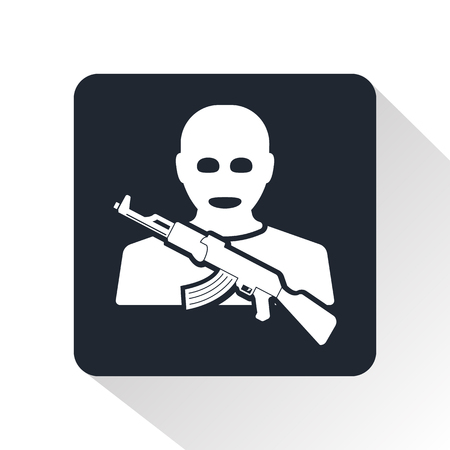 censorship: terrorist icon Illustration