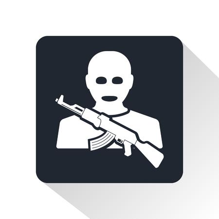kidnapping: terrorist icon Illustration