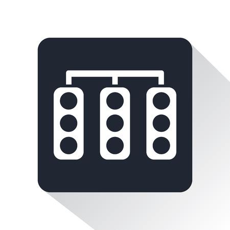 pilot light: traffic light icon