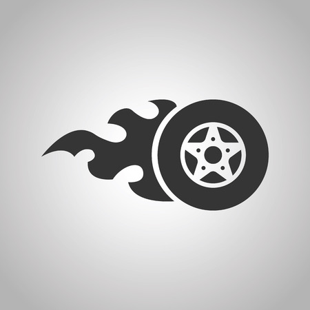 burning: burning wheel icon