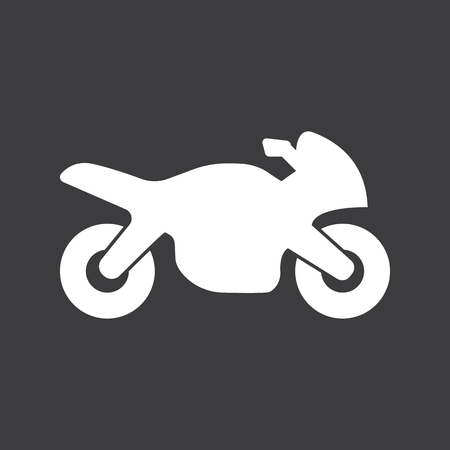 motorcycle racing: motorcycle racing icon