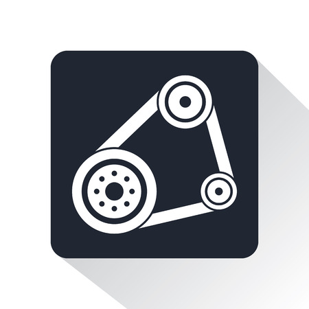 mechanical engineering: mechanism icon Illustration