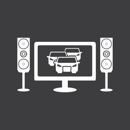 automovilismo en icono de la televisión