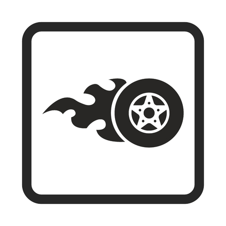 burning: burning wheel icon