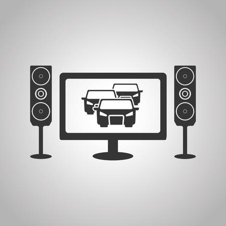 auto racing: auto racing on TV icon