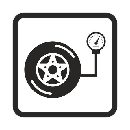 low tire: pump wheel icon