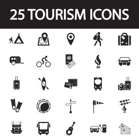 Voyage et tourisme icône ensemble