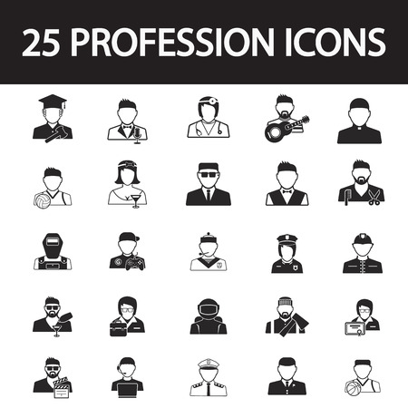 profession: profession icon set