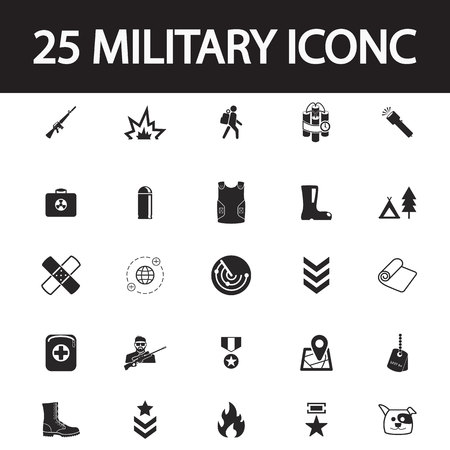 pictogram people: Military icon set