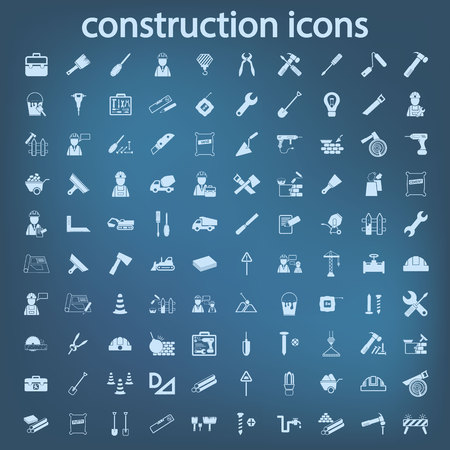 constructie set icon Stock Illustratie