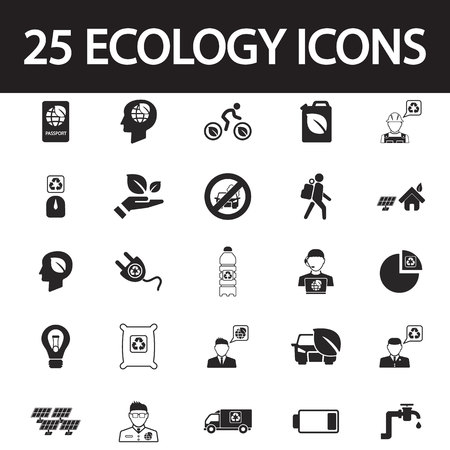 ecology icons: Ecology icons set