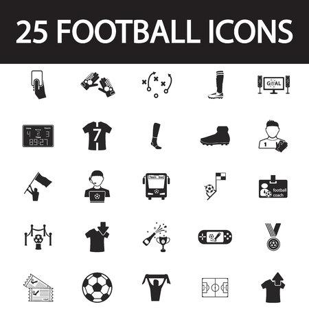 football coach: football icon set Illustration