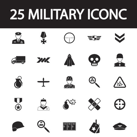 first form: Military icon set