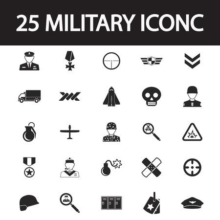 mercenary: Military icon set