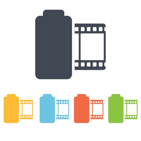 35mm film motion picture camera: camera roll icon