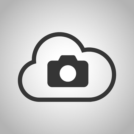 stored: cloud photo icon Illustration