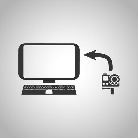 transference: copy photo icon Illustration