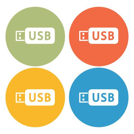 sumbol: flash drive icon
