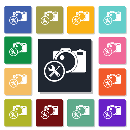 photographic: photographic equipment repair icon